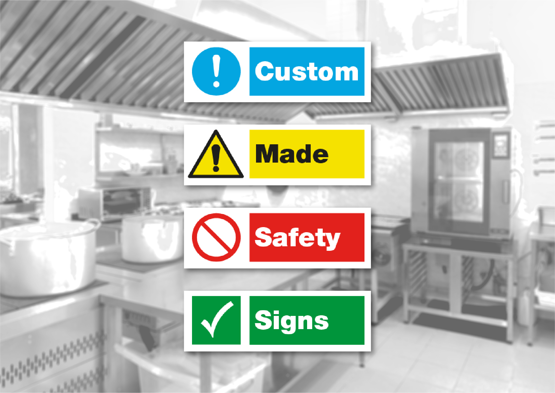 Custom Made Catering Safety Signs