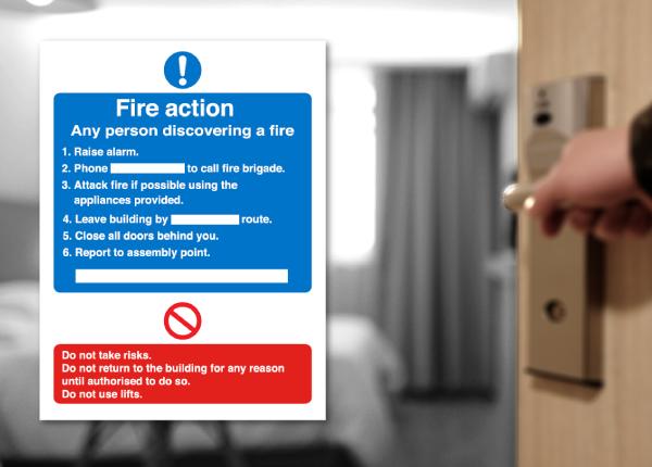 Fire Door & Fire Action Signs