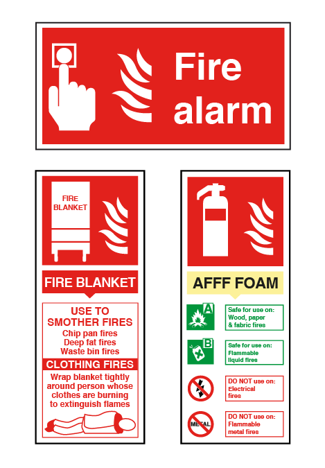 Fire Alarm & Fire Extinguisher Signs