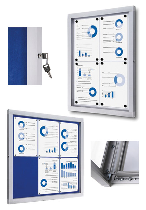 Lockable Indoor Notices Boards