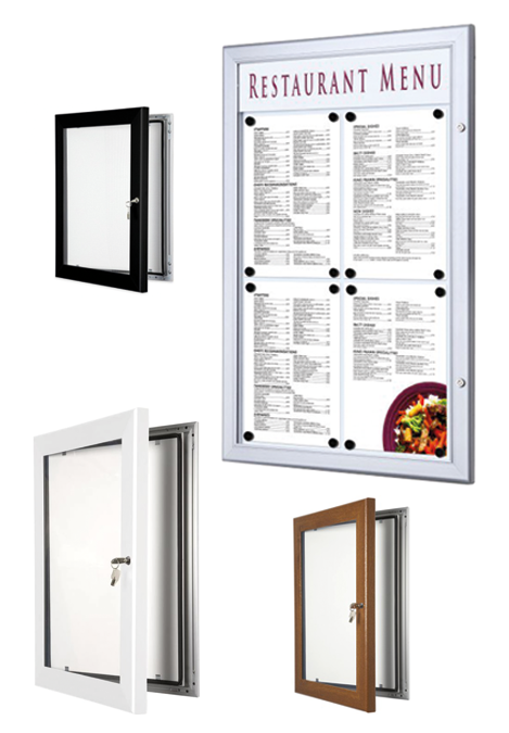 Outdoor Menu Display Cases