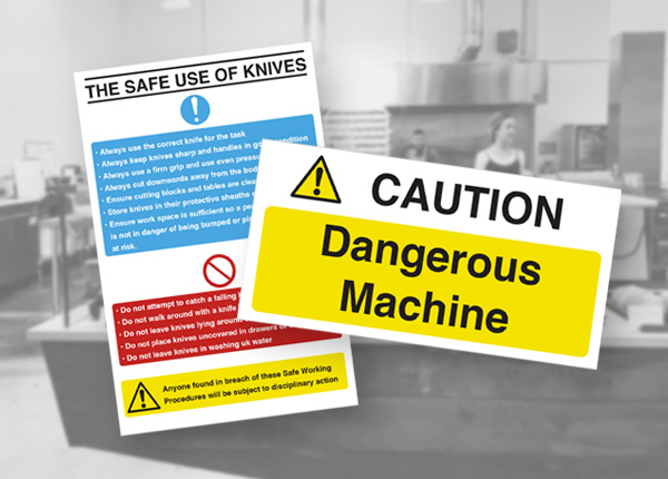 Catering Equipment Safety Signs