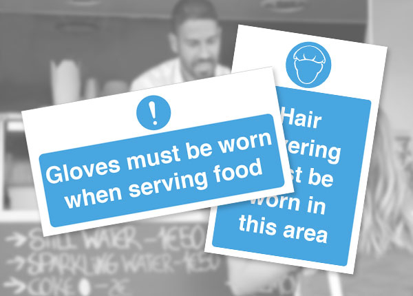 Catering staff mandatory safety notices