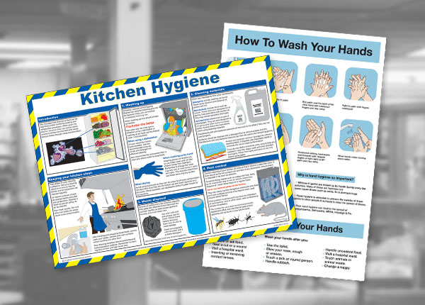 Catering safety guidance posters