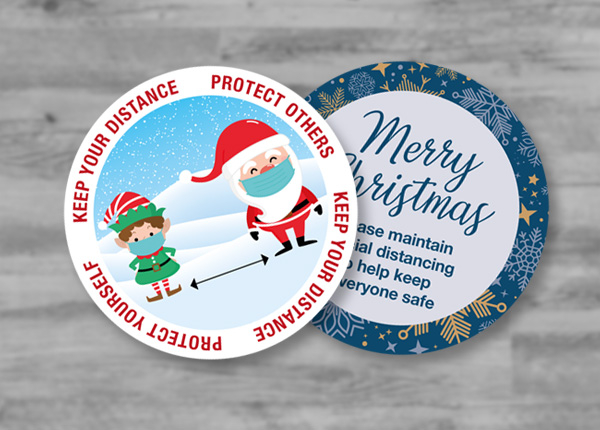 Christmas Themed COVID-19 Signs