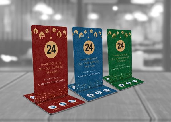 Christmas Table Numbers