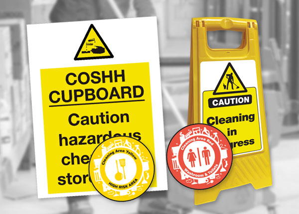 Cleaning and Chemical Safety Signs