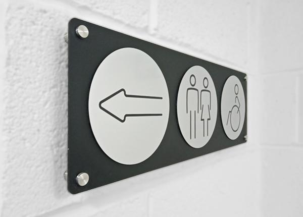 Washroom Door & Directional Signs 150mm
