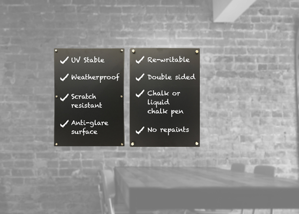 HPL Exterior Wall Mounted Chalkboards