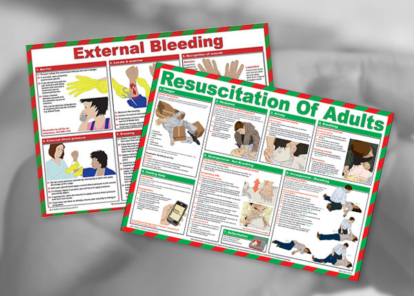 First Aid Treatment Posters