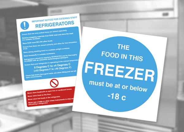 Food Storage Temperature Signs
