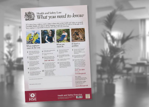 HSE UK Law Poster