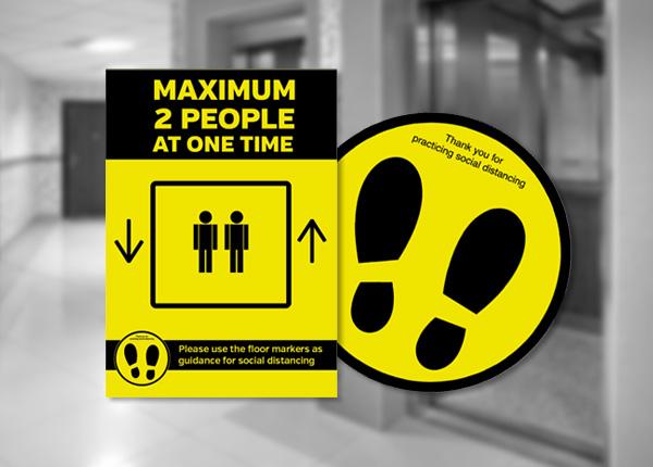 Social Distancing Lift Signs