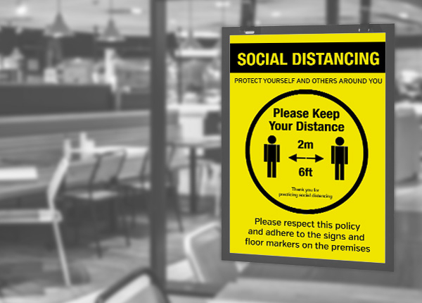 Social Distancing Signs & Posters