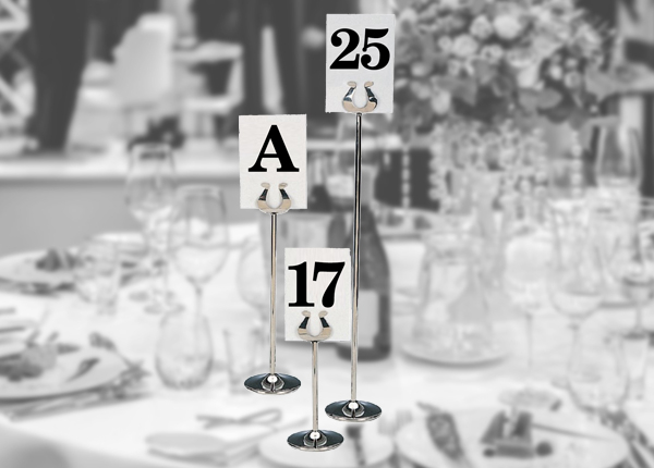 Banquet Table Numbers & Stands