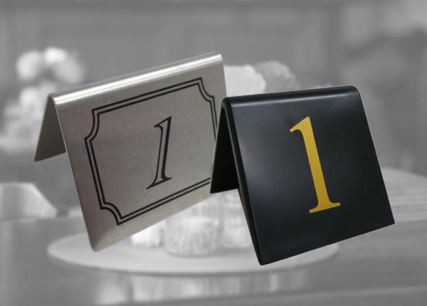 Indoor Table Numbers and Signs