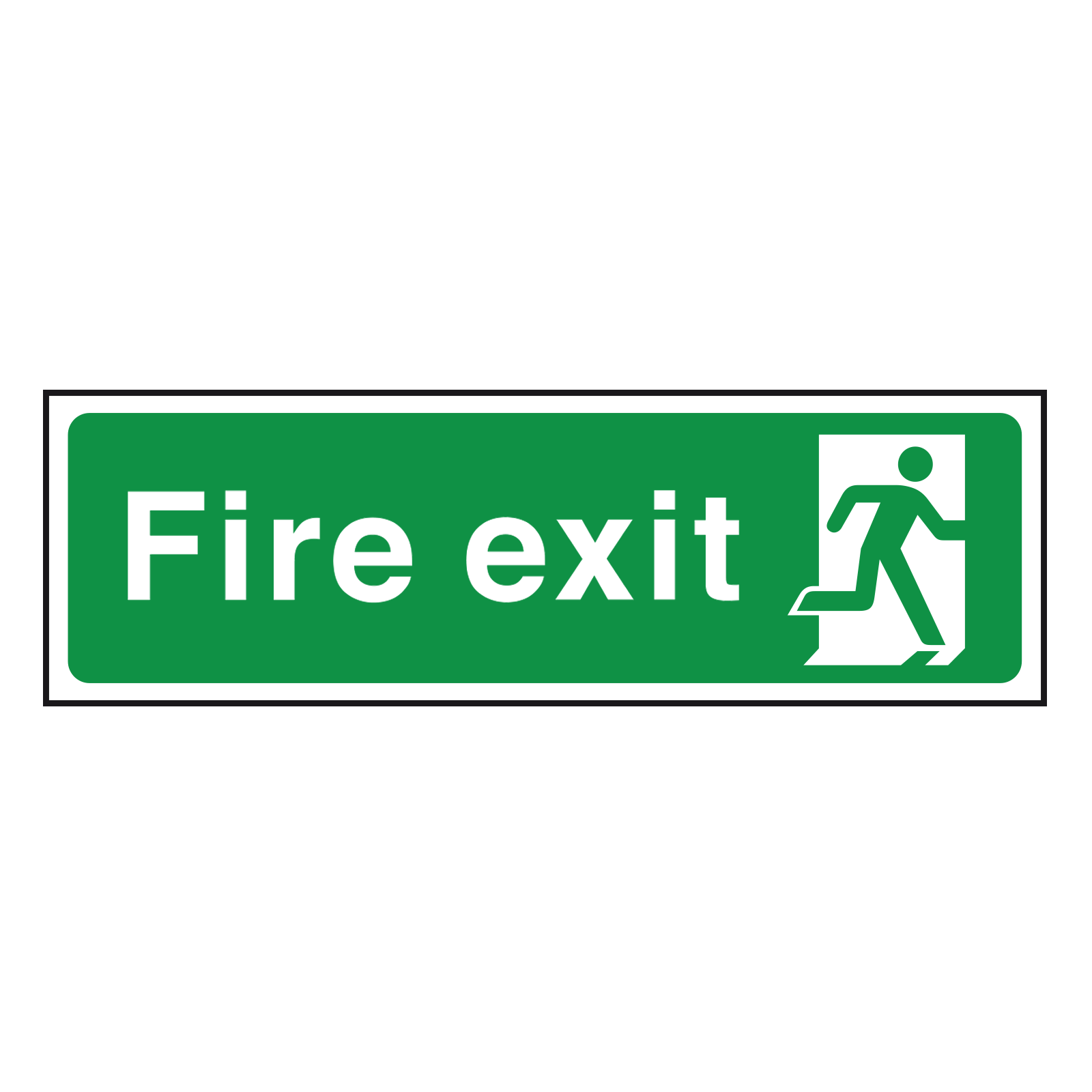 Fire Exit Sign Final Exit Point