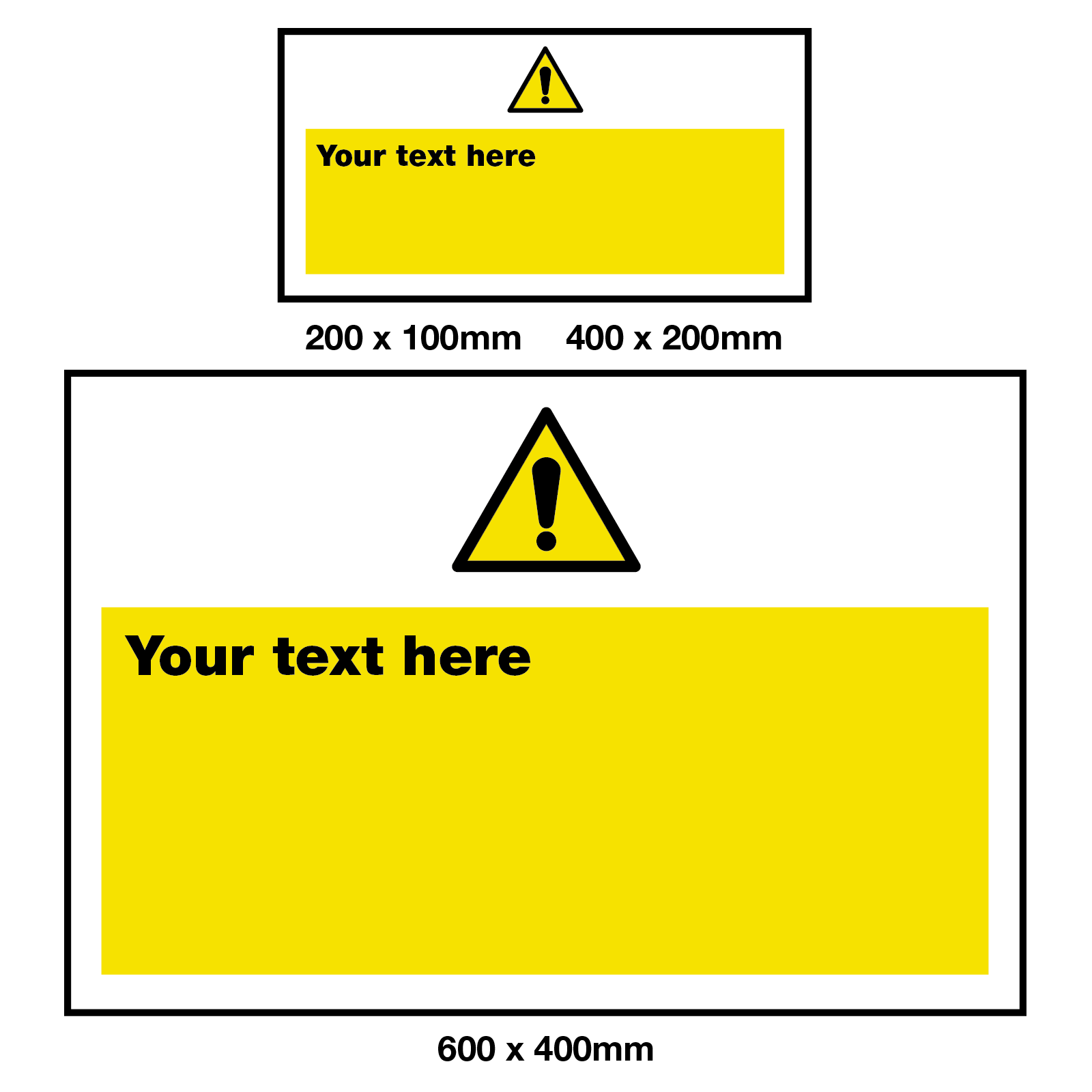 Create Your Own Warning Safety Sign Style 1