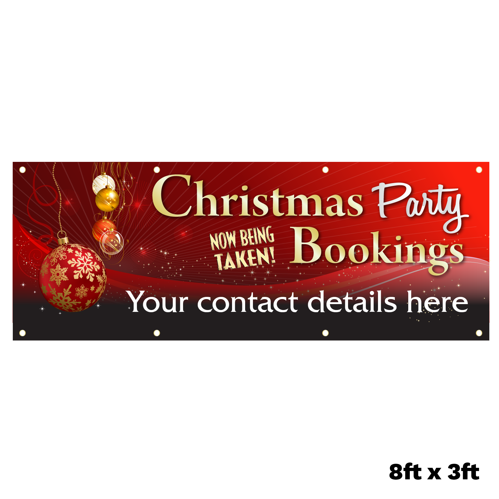 Personalised Christmas Party Bookings Now Being Taken