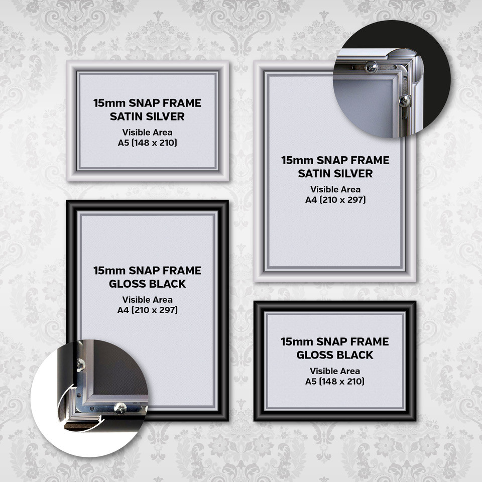 Poster Display Snap Frames