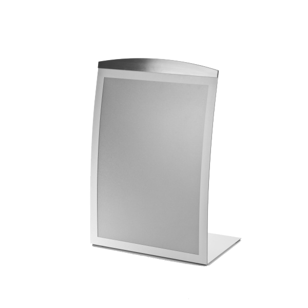 Silver Curved Freestanding Poster Holder