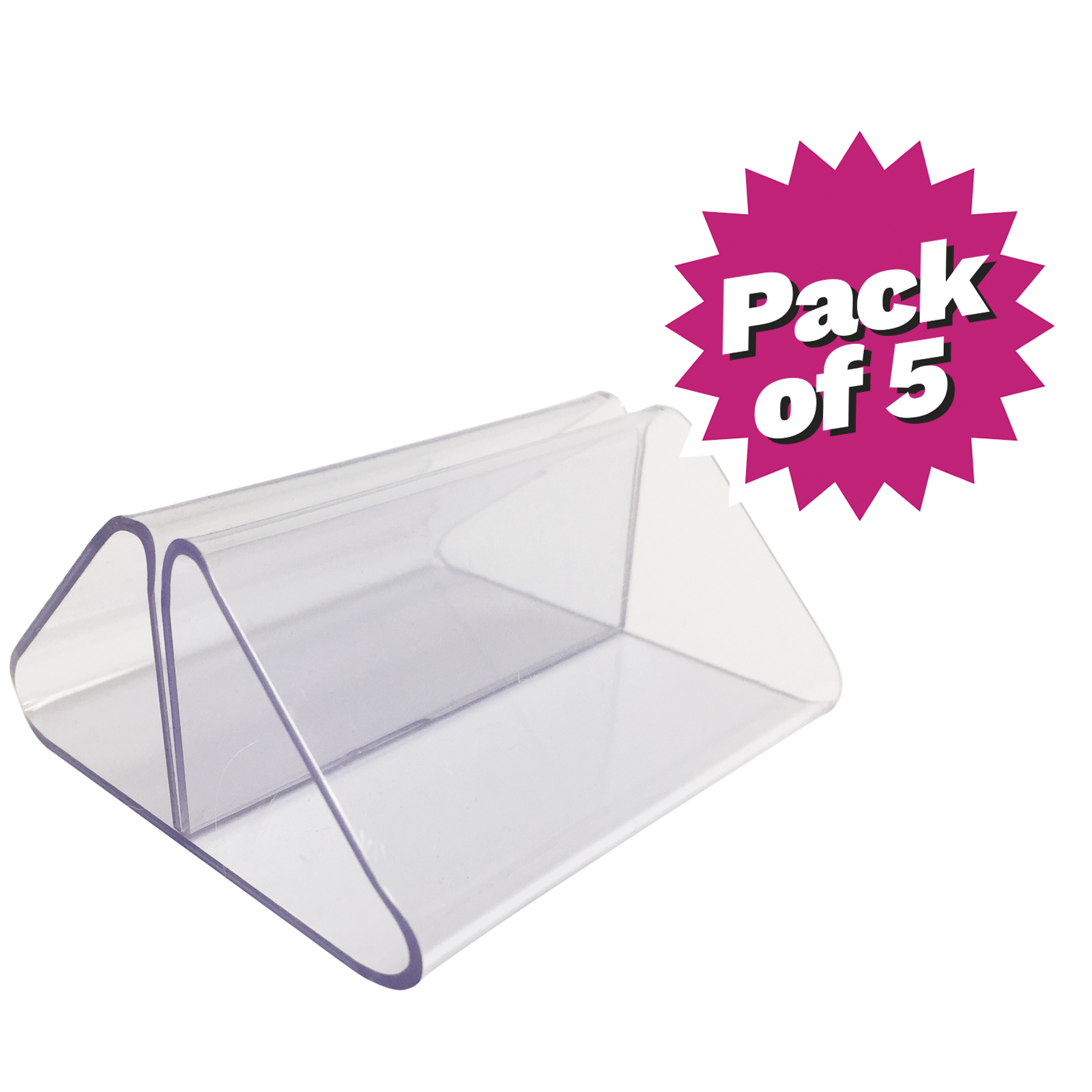 Clear PVC Card Holder - Pack of 5