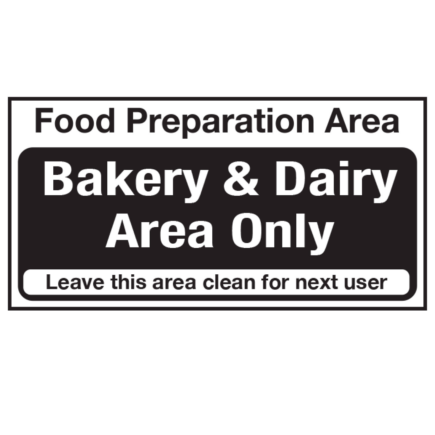 Bakery and Dairy products Sign