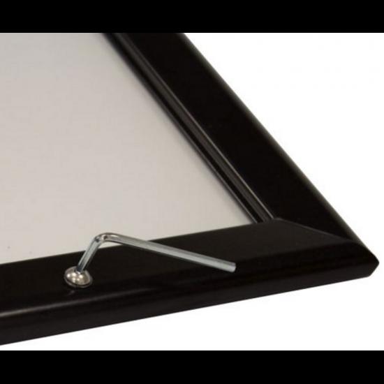 Black 32mm Lockable Poster Display Snap Frame