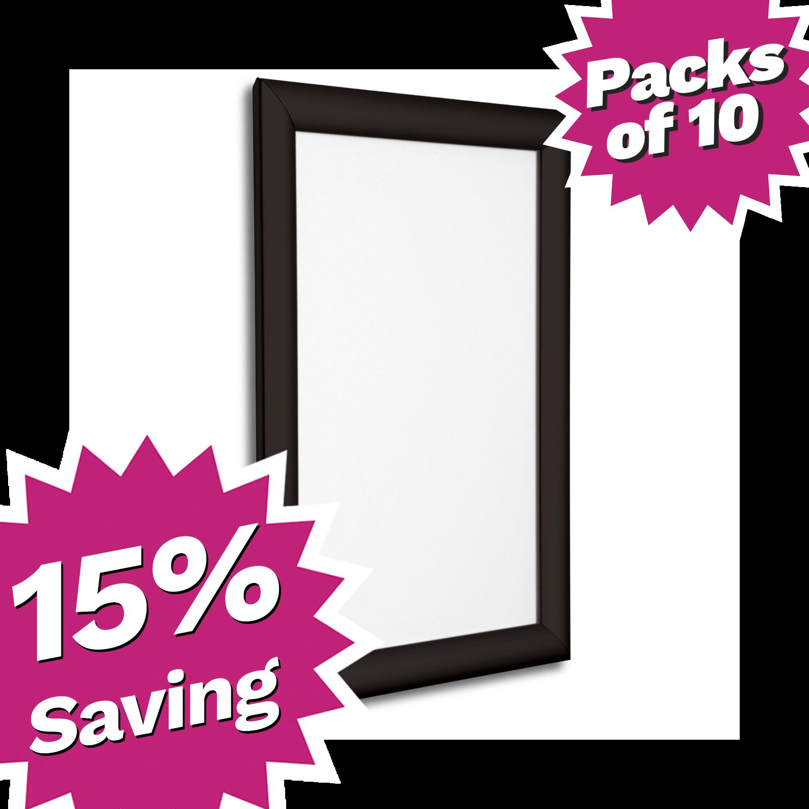 A3 Black Snap Frame Poster Frame Pack of 10