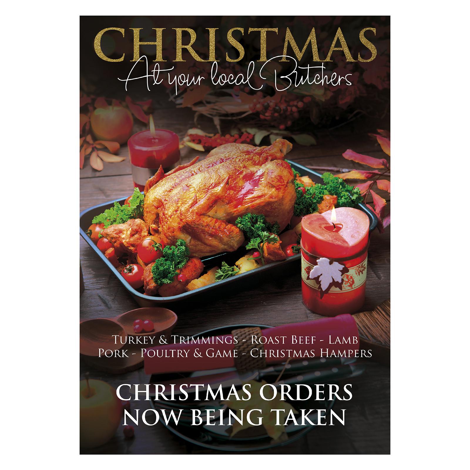 Butcher Order Christmas Poster