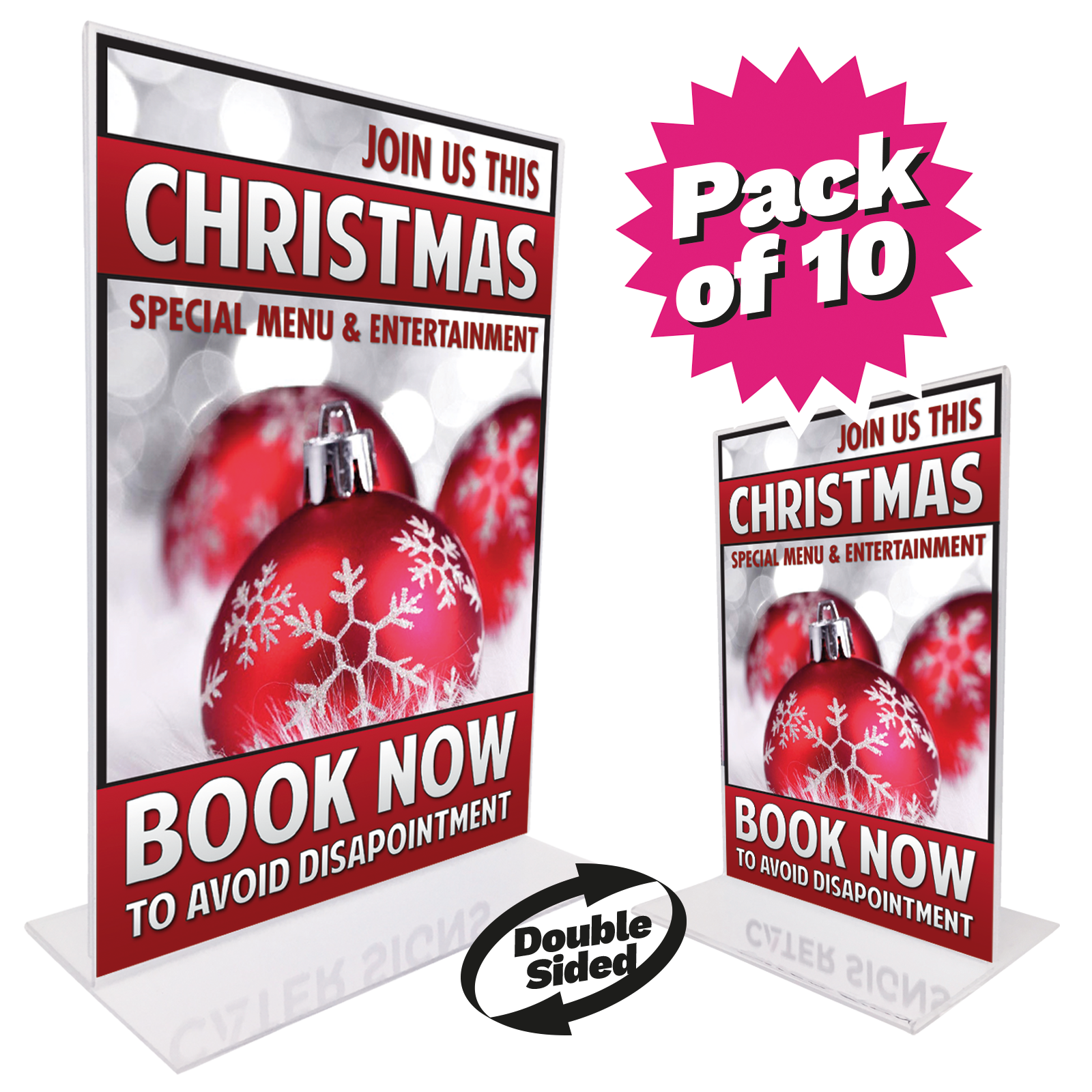 Christmas Counter.Christmas Counter Top Double Sided Poster Holder Bundles