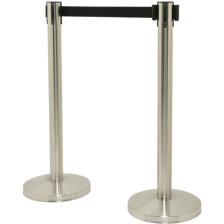 Set of 2 Retractable Belt Barrier Posts