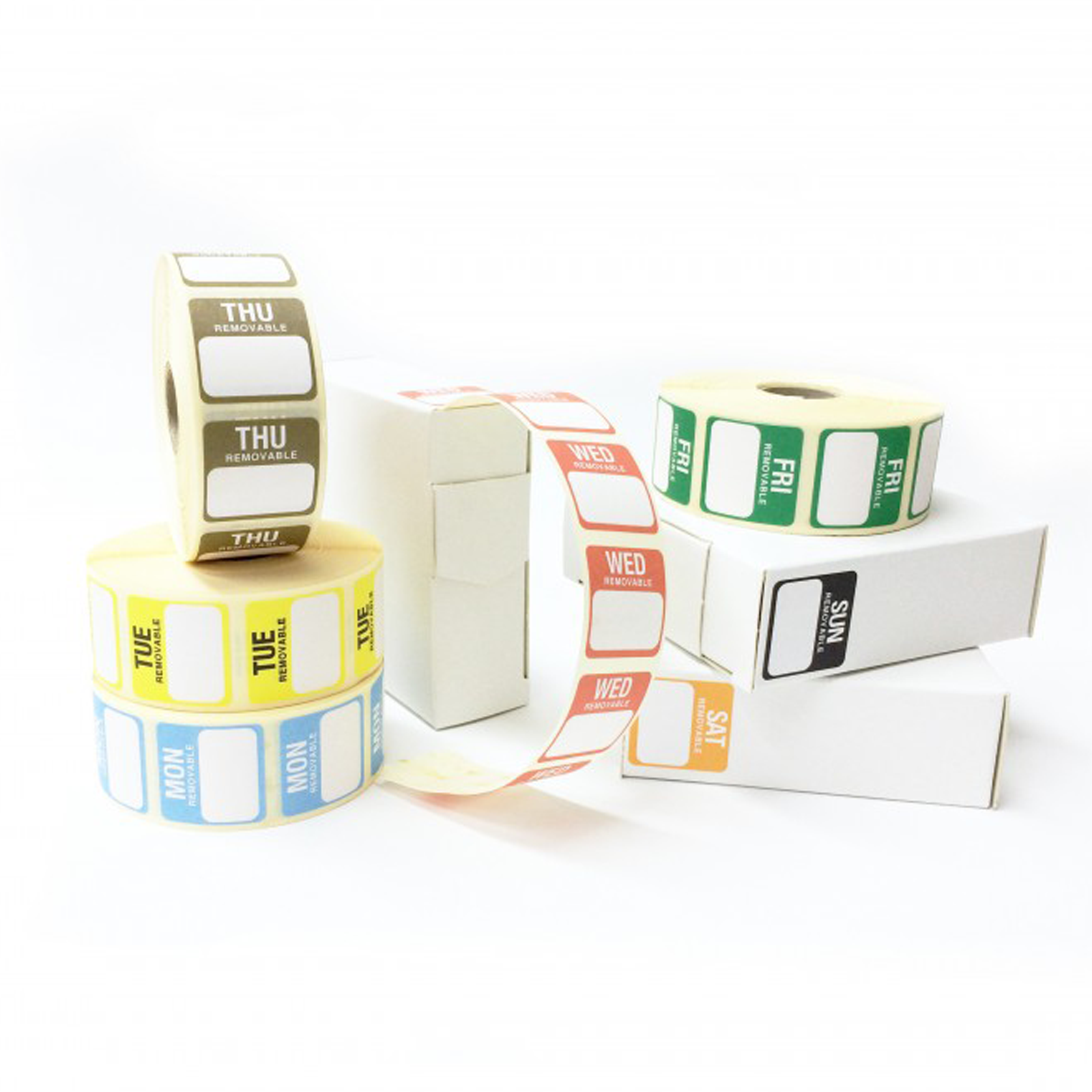 Removable 25mm Day of the Week Food Labels. (1000 labels per roll)
