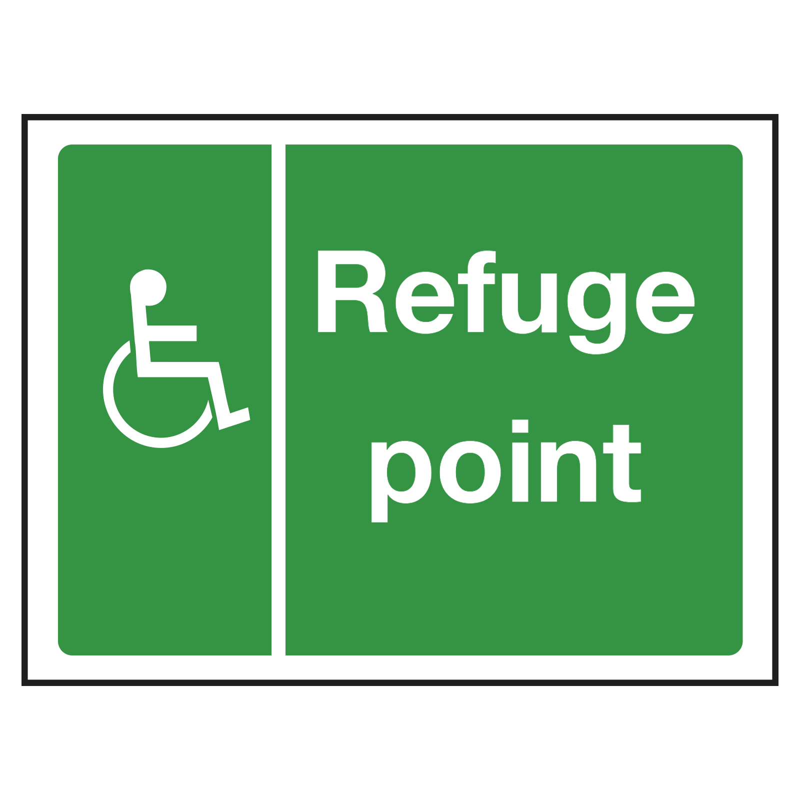 Refuge Point Main Location Sign
