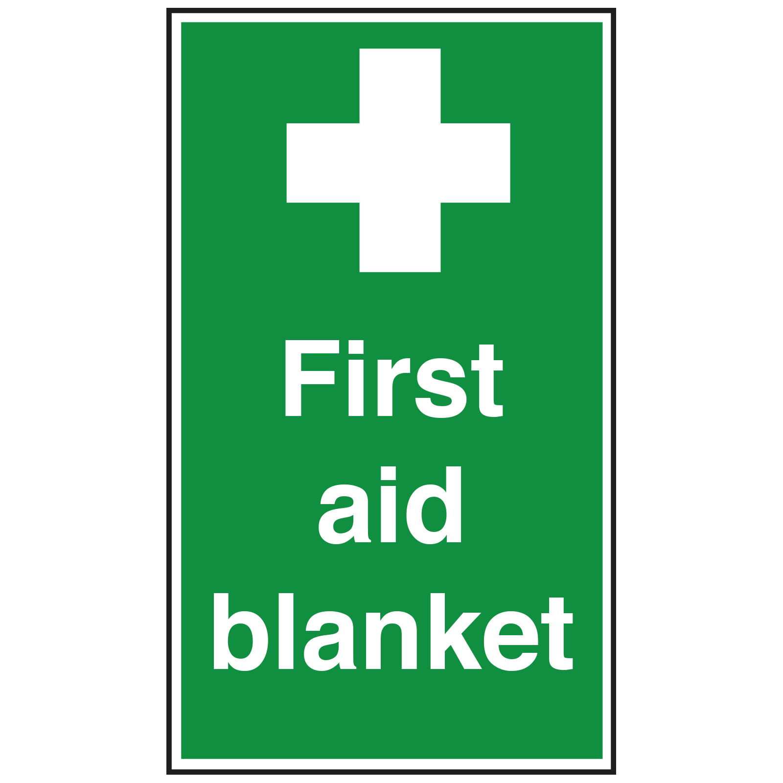 First Aid Blanket with Symbol Sign