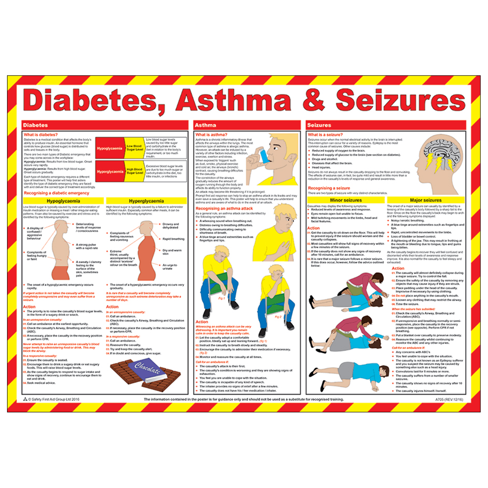 Diabetes, Asthma and Seizures Poster