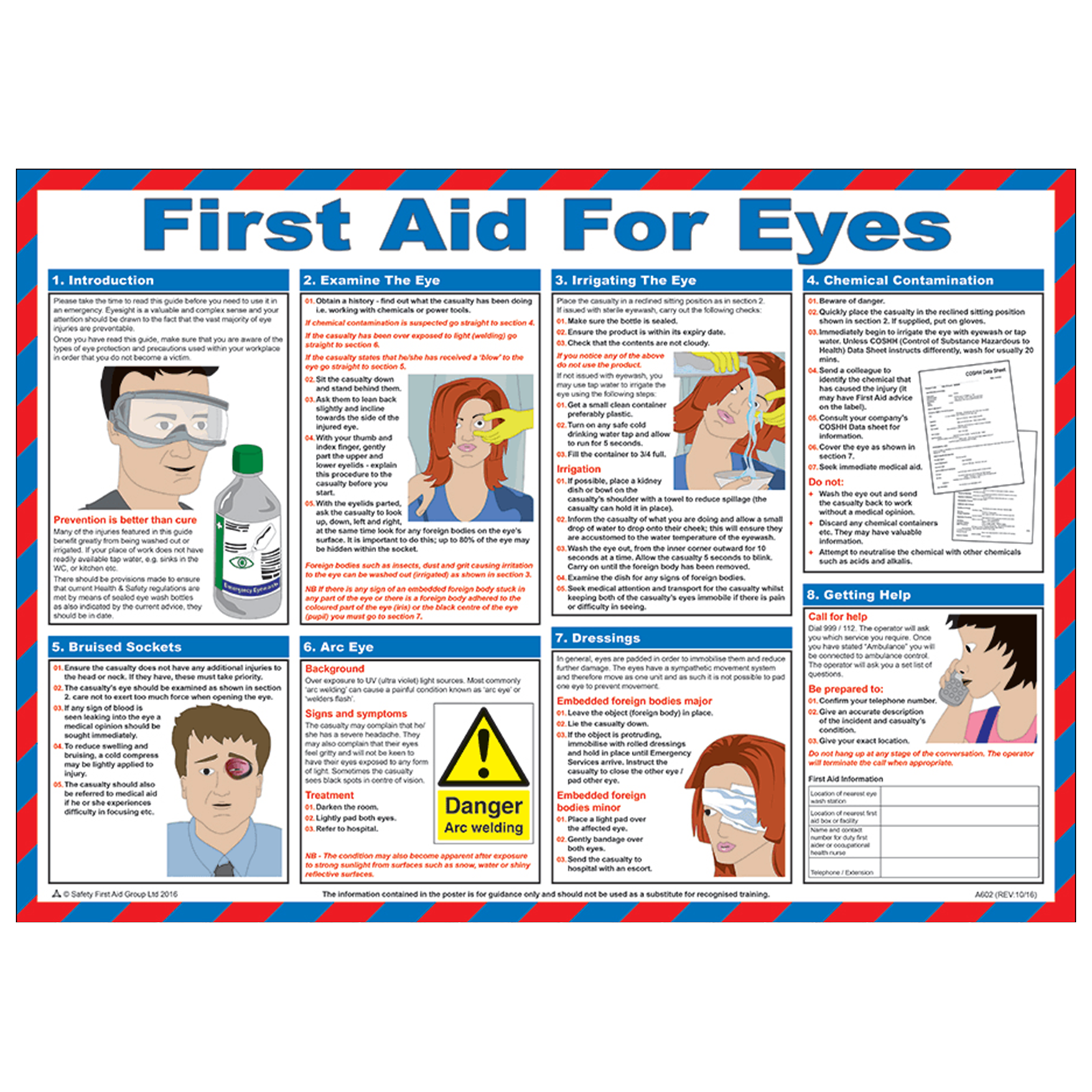 How to give first aid for eye burns 44