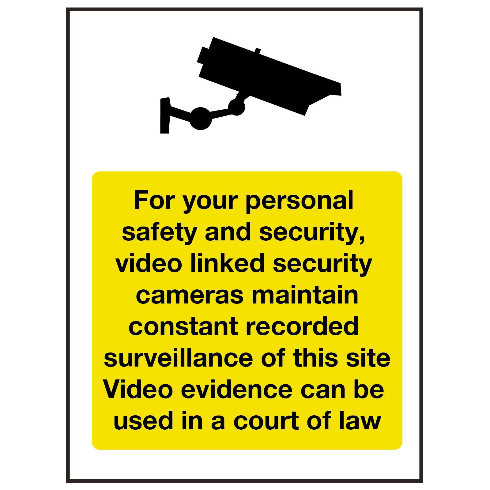 For Your Safety CCTV in Operation Sign