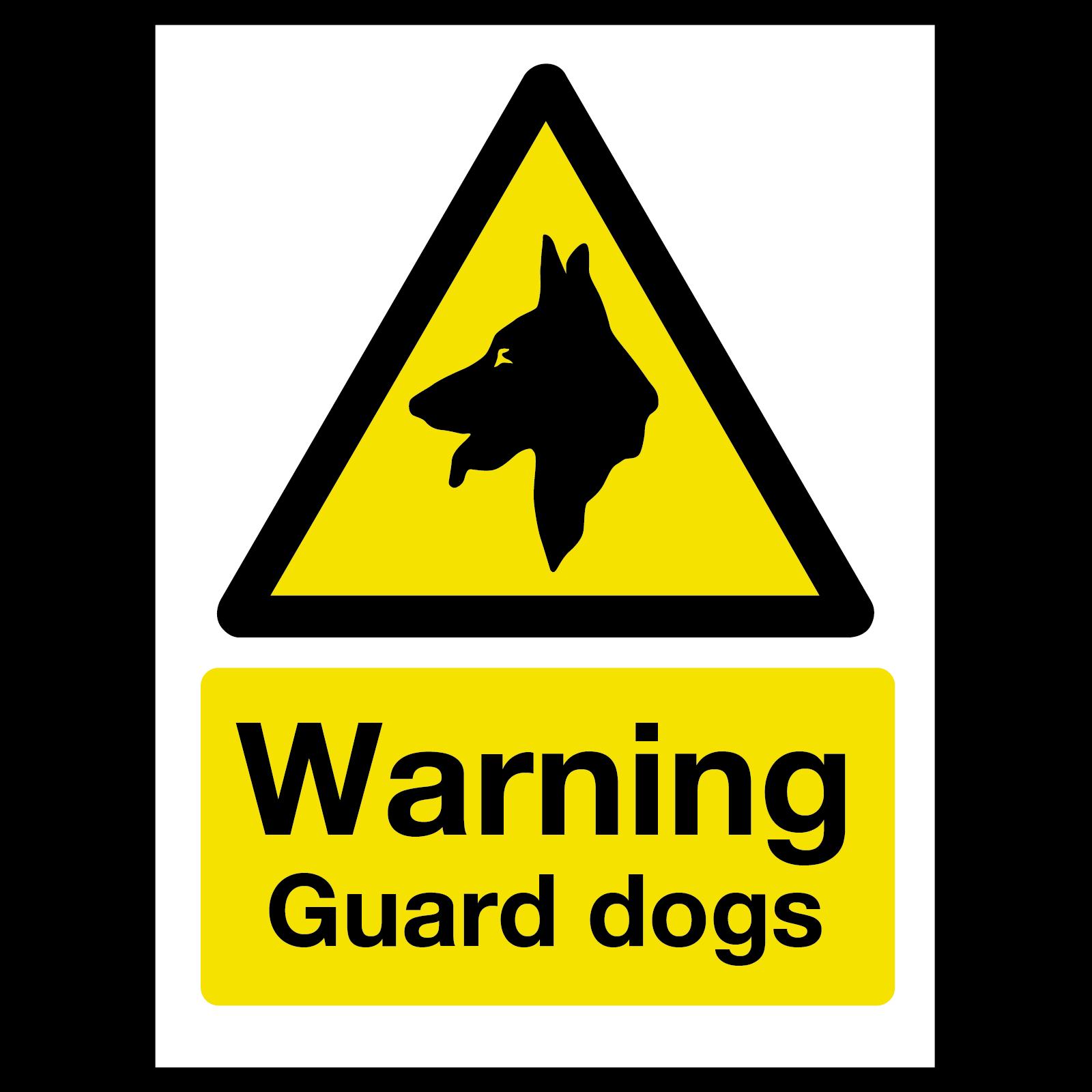Warning Guard Dog Sign