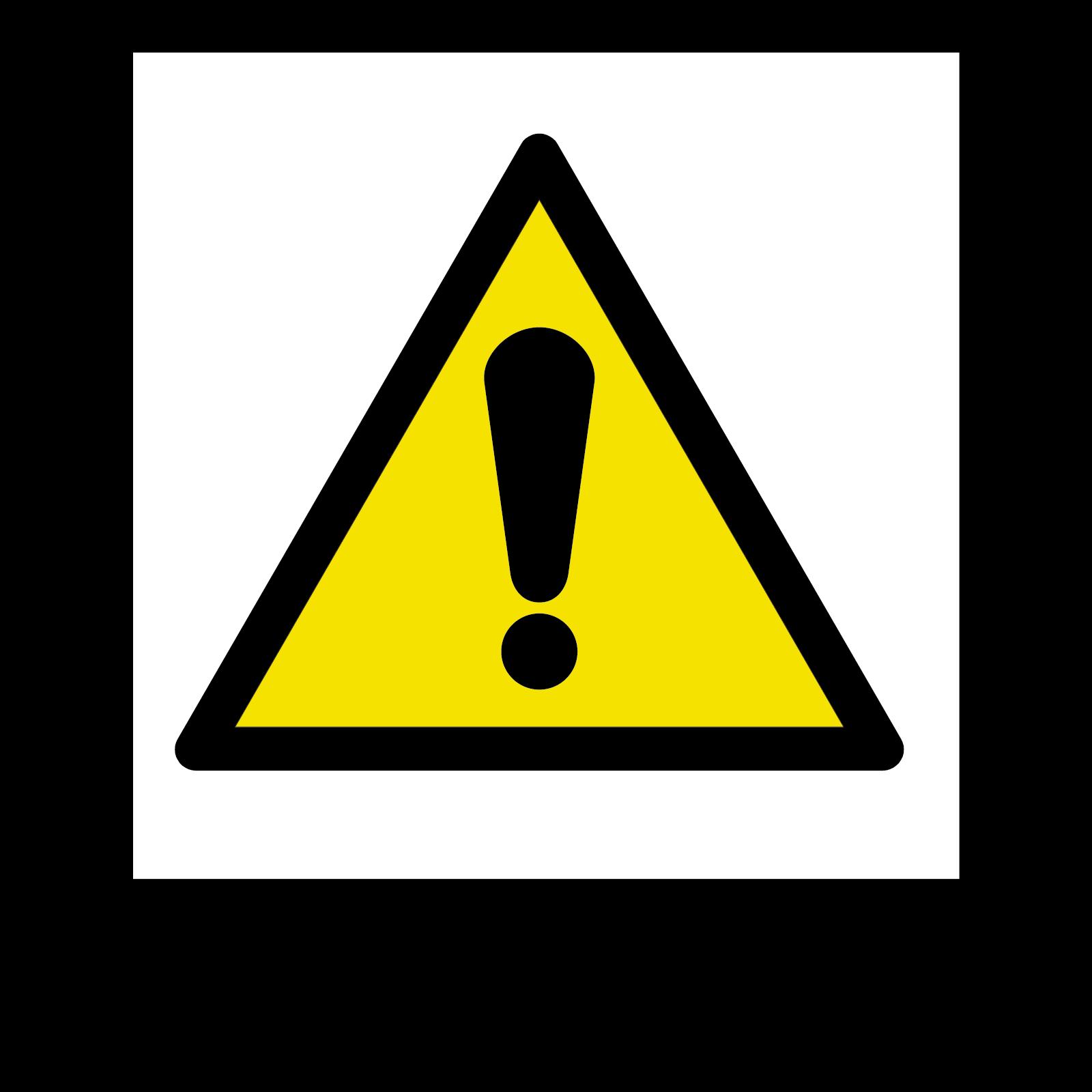 Warning Safety Symbol Sign