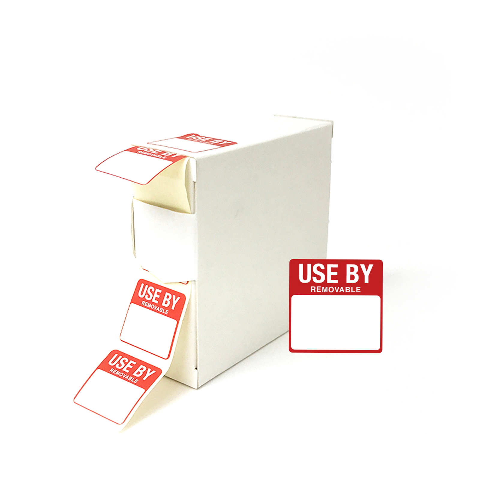 Removable Use By Date Food Storage Labels. (1000 labels per roll)