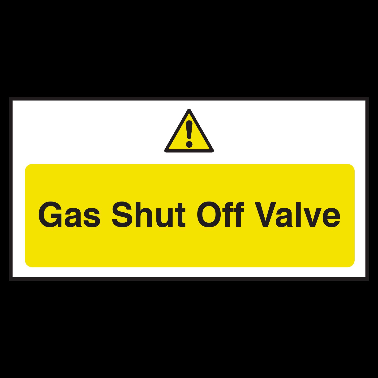 Gas Shut Off Valve Notice