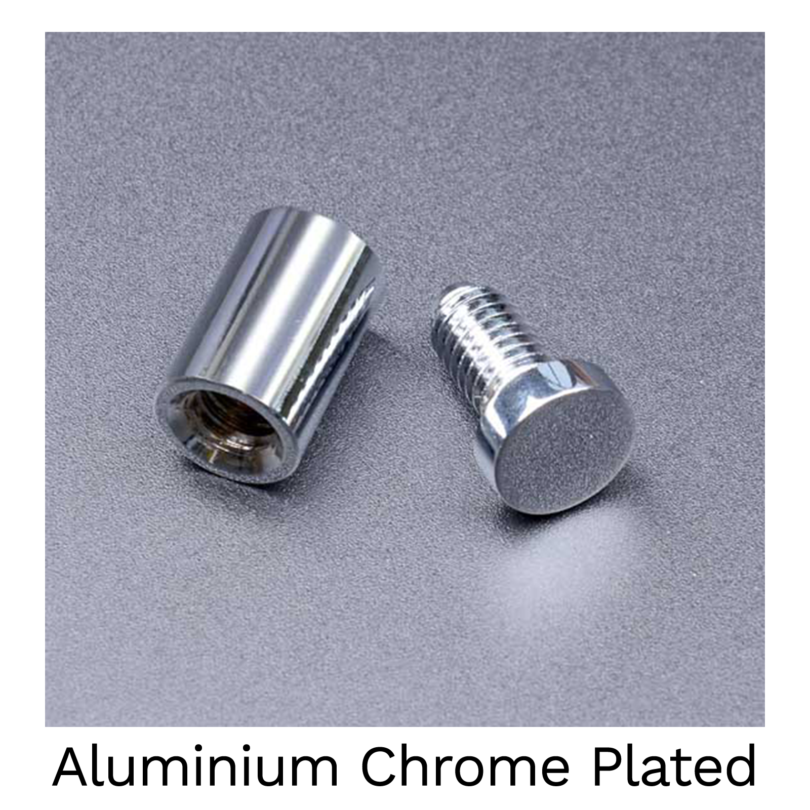 Aluminium Chrome Plated - 19mm Stand Off Wall Fixings - Pack of 4