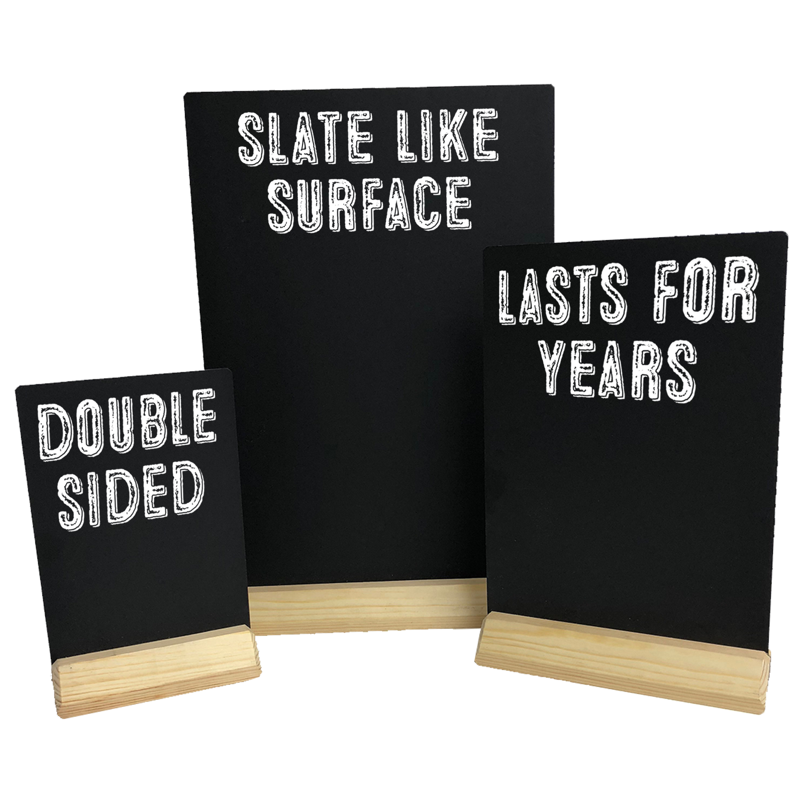 Counter Top Message Boards - HPL Panel Table Talkers - Double sided writing surface