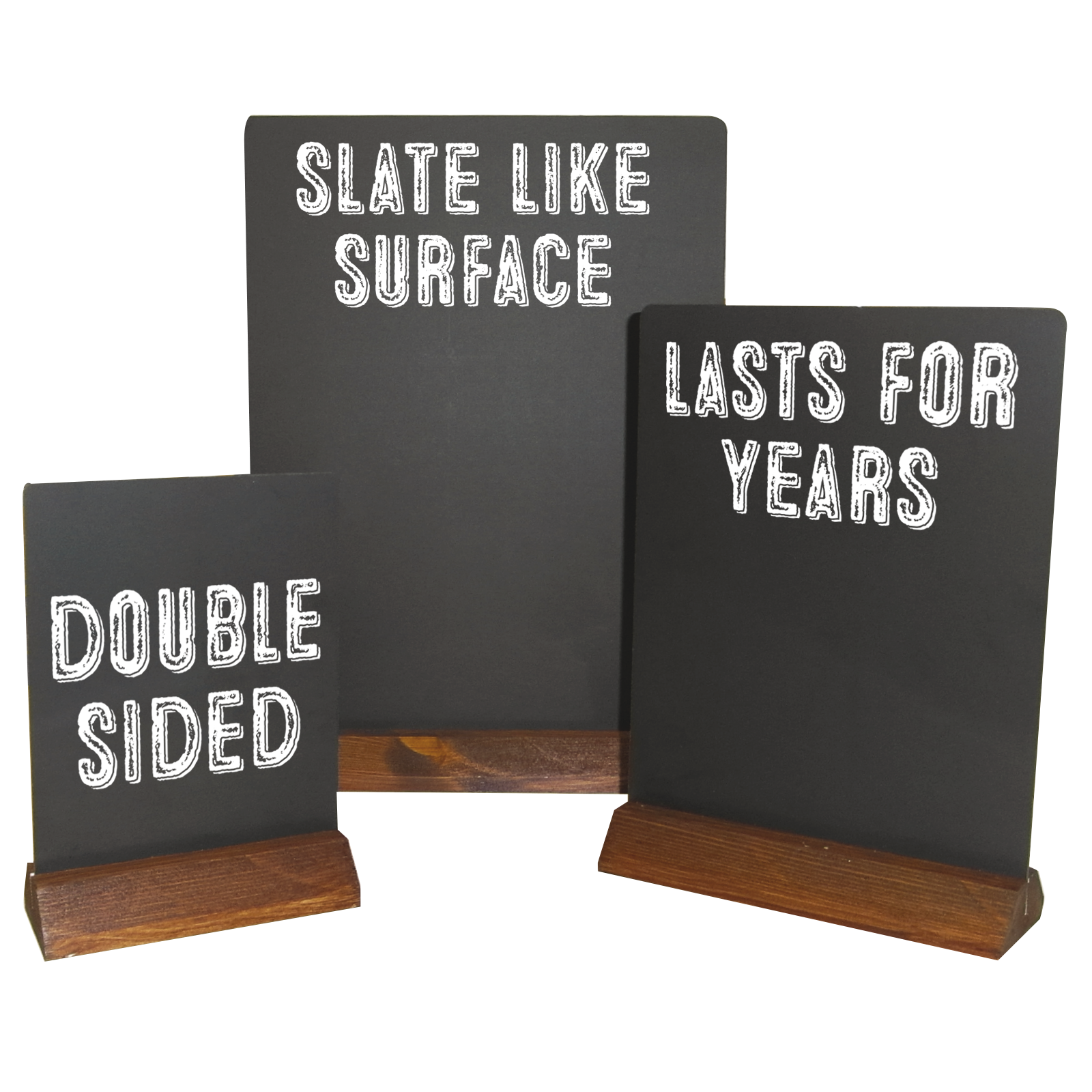 Table Top Message Boards - Table Talkers - Pudding Boards - Double sided writing surface - HPL Panels.
