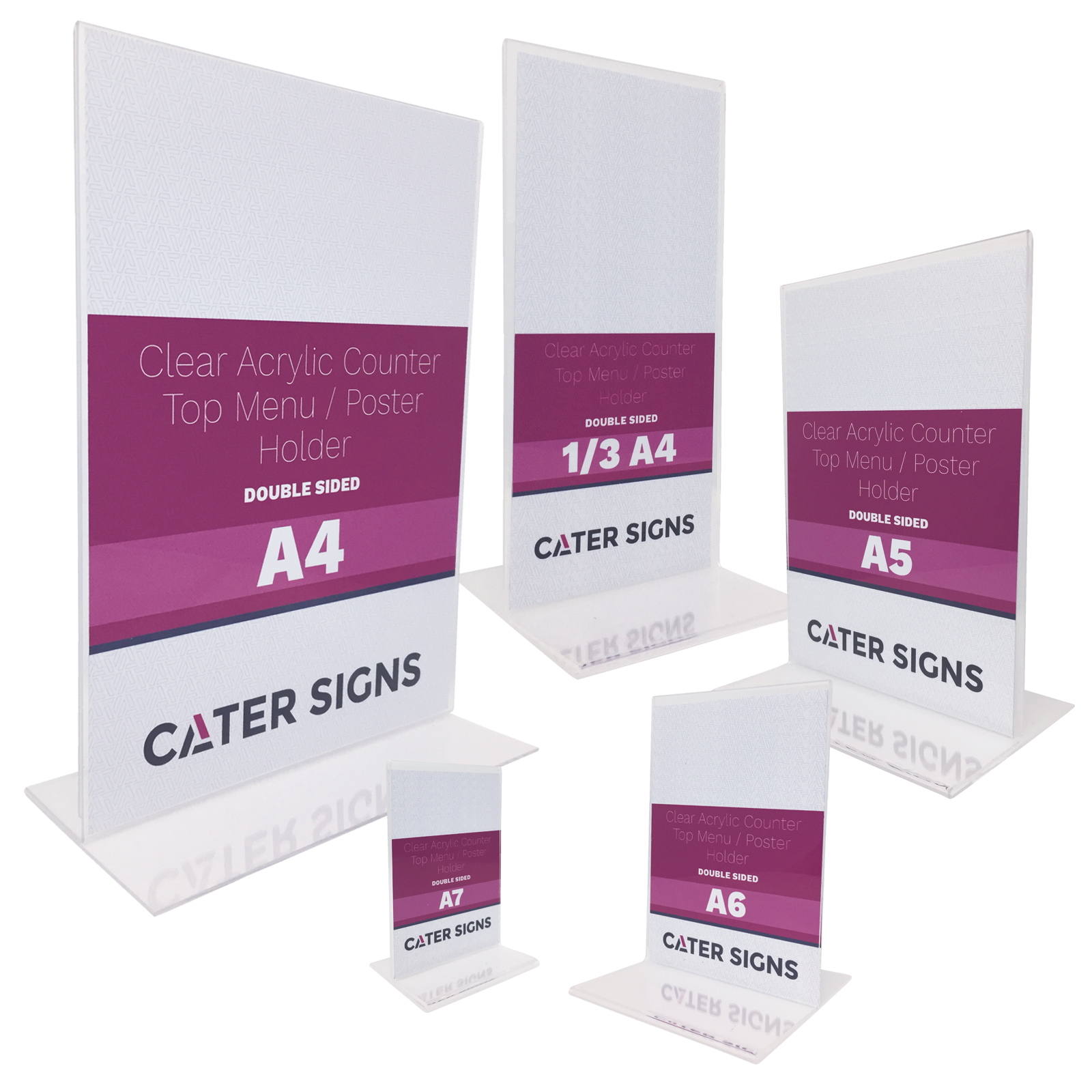 Double Sided Clear Acrylic Poster Holders