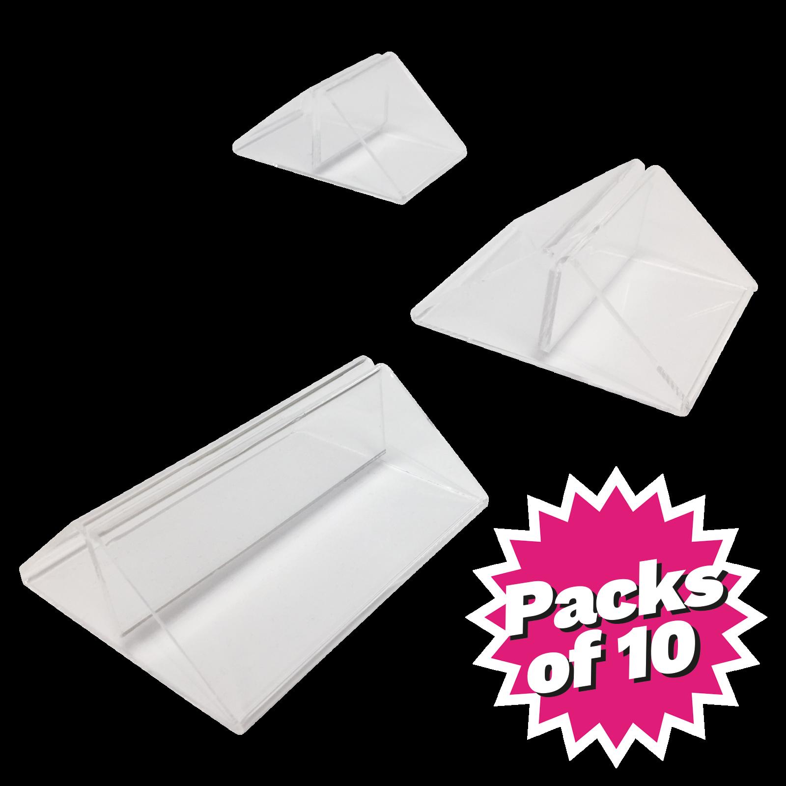Acrylic Menu Card Holders - Pack of 10
