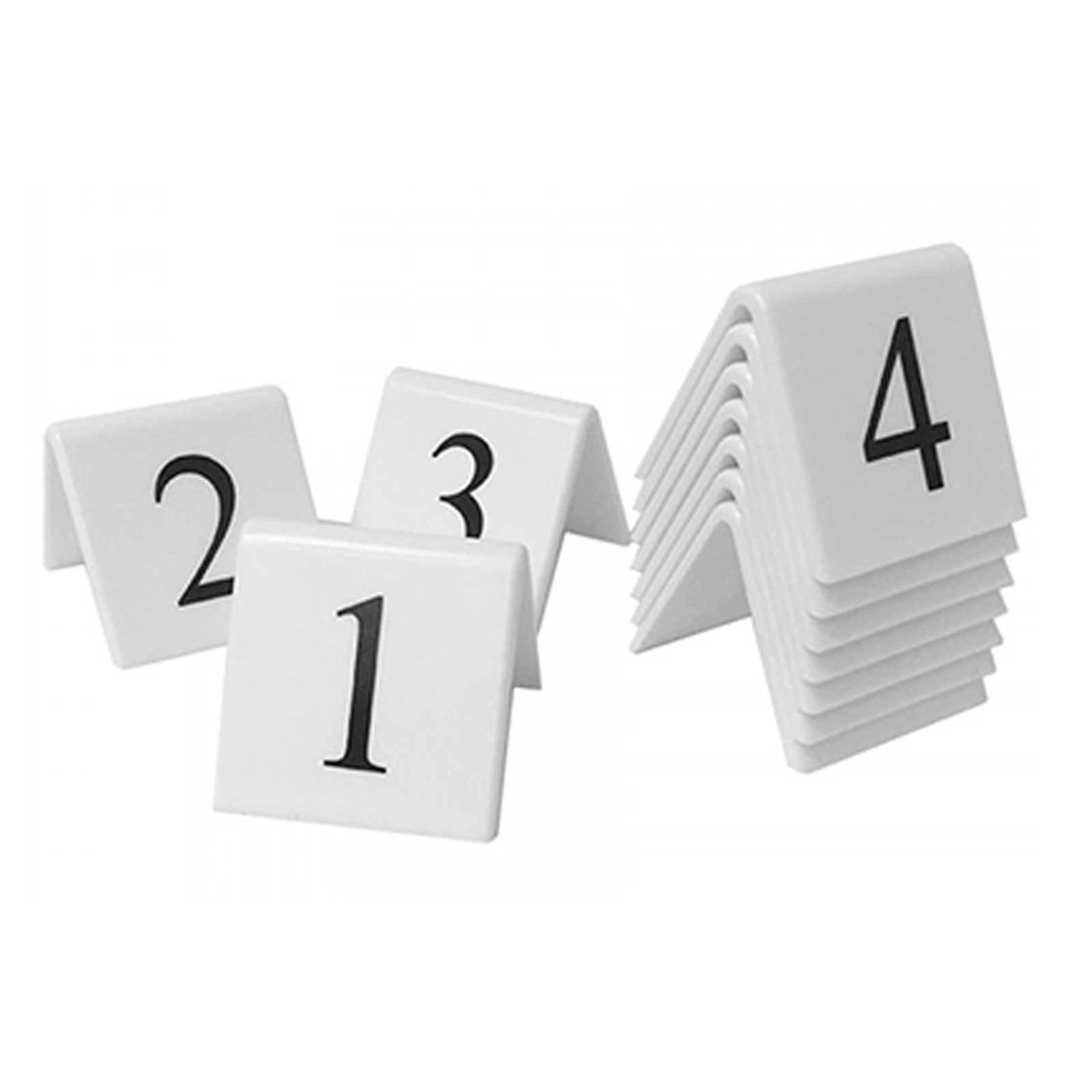 White Table Number Sets
