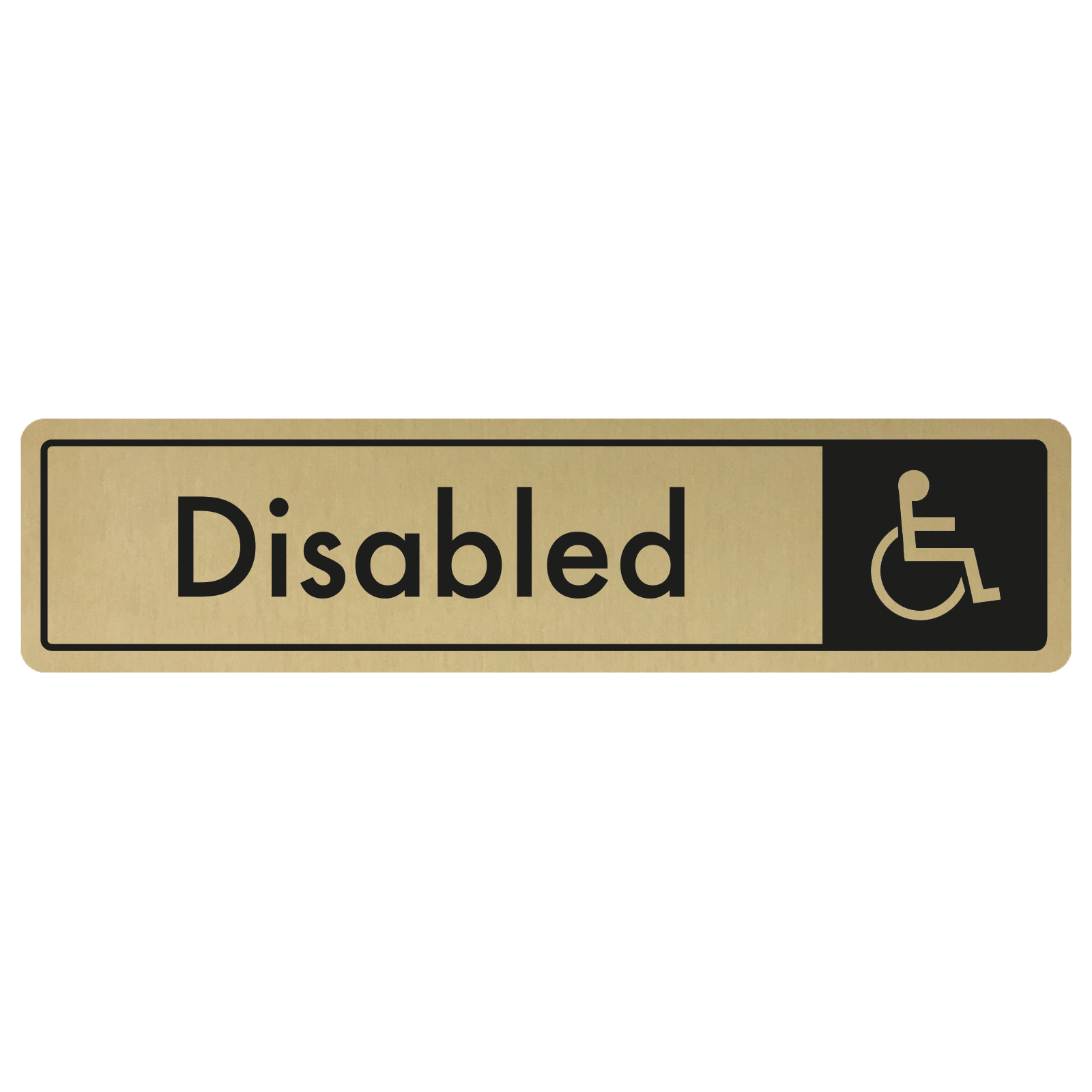 Disabled Door Sign - Black on Gold