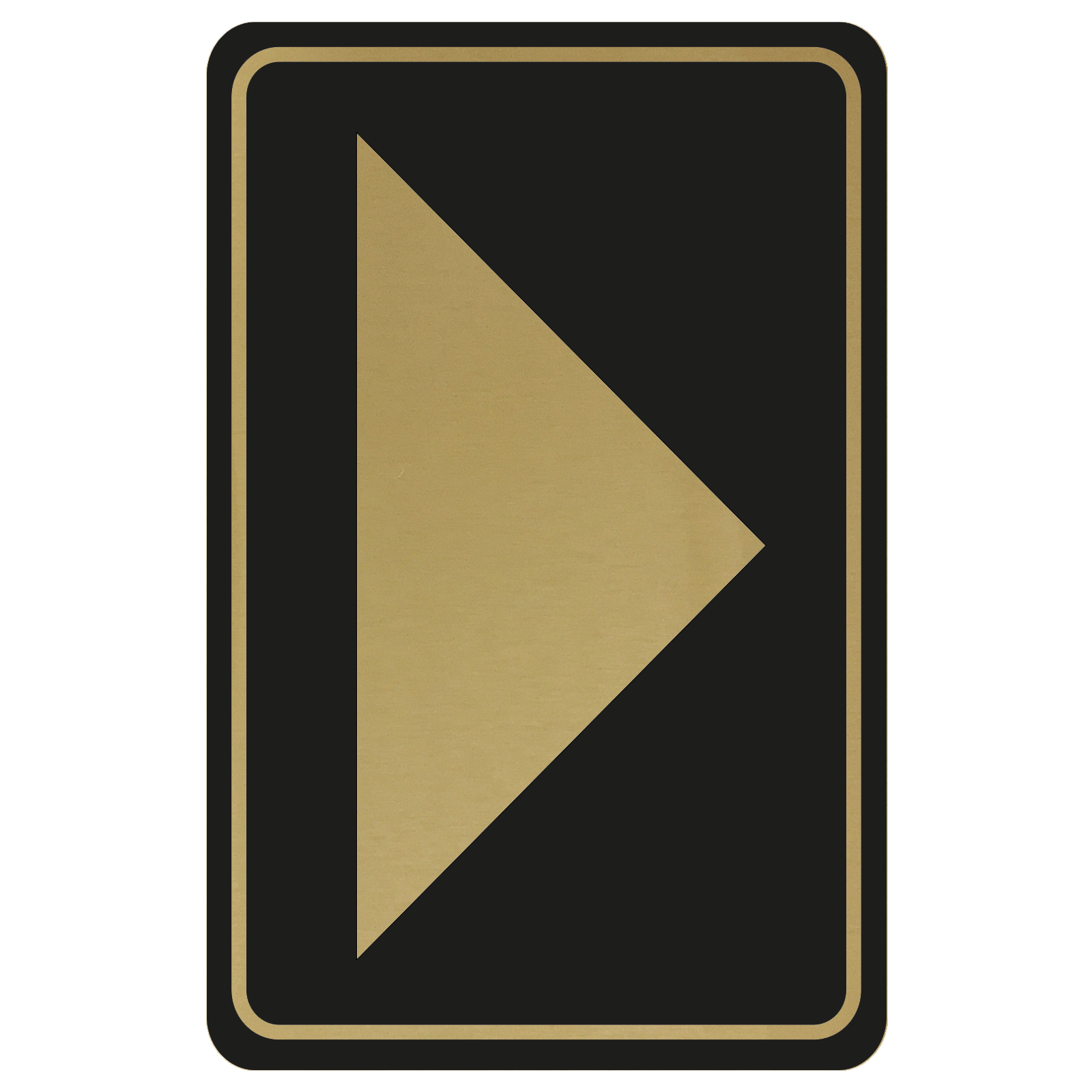 Large Arrow Door Sign - Gold on Black